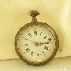 Relojes de bolsillo: RELOJ BOLSILLO MECANICO TIPO MONJA HIERRO N34. Lote 188788326