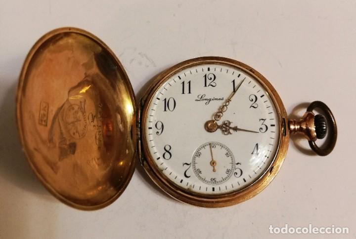 Relojes de bolsillo: Hermoso reloj Longines hecho en oro de 14 quilates - Foto 2 - 188802646