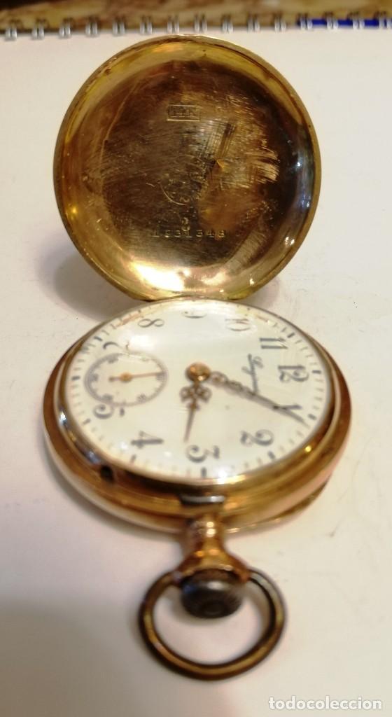 Relojes de bolsillo: Hermoso reloj Longines hecho en oro de 14 quilates - Foto 5 - 188802646