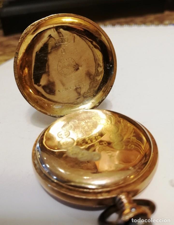 Relojes de bolsillo: Hermoso reloj Longines hecho en oro de 14 quilates - Foto 6 - 188802646