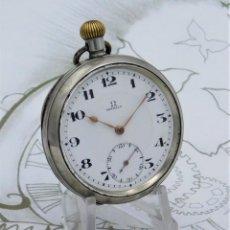 Relojes de bolsillo: OMEGA-RELOJ DE BOLSILLO-CIRCA 1920-FUNCIONANDO. Lote 188824277