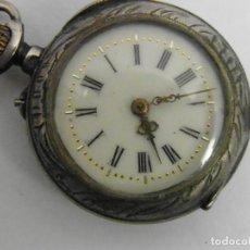 Relojes de bolsillo: RELOJ MONJA PLATA. Lote 189428081