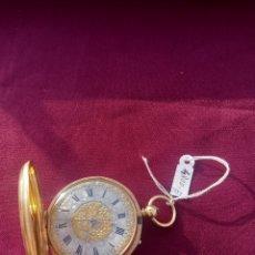 Relojes de bolsillo: RELOJ BOLSILLO ORO. Lote 189467253