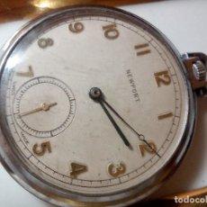 Relojes de bolsillo: RELOJ BOLSILLO NEW PORT ORIS 7 JEWELLS. Lote 189902115