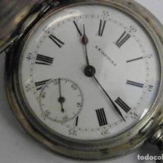 Relojes de bolsillo: RELOJ SUIZO PLATA LEONIDAS. Lote 189952492