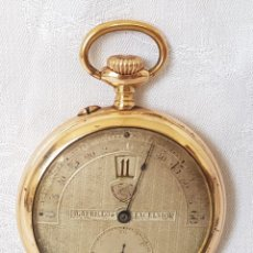 Relojes de bolsillo: ANTIGUO RELOJ BOLSILLO CIGARRILLOS EXCELSIOR MODERNISTA SALTARIN SALTO TAXI WATCH JUMP FUNCIONA. Lote 190071347