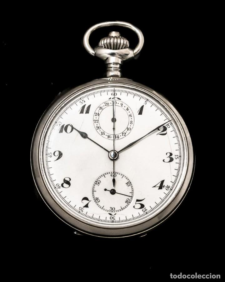 ANTIGUO RELOJ DE BOLSILLO Y CRONOGRAFO DE ORIGEN SUIZO DE LOS AÑOS 1900 Y FUNCIONANDO. (Relojes - Bolsillo Carga Manual)