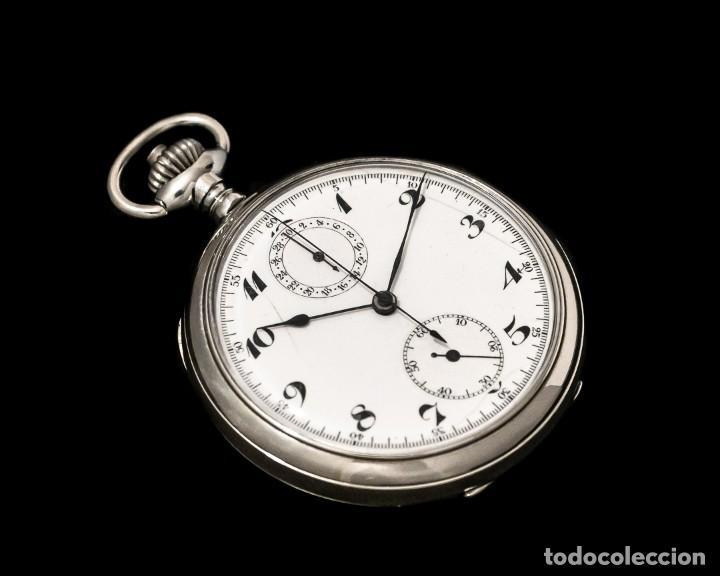 Relojes de bolsillo: Antiguo reloj de bolsillo y cronografo de origen suizo de los años 1900 y funcionando. - Foto 2 - 190137406