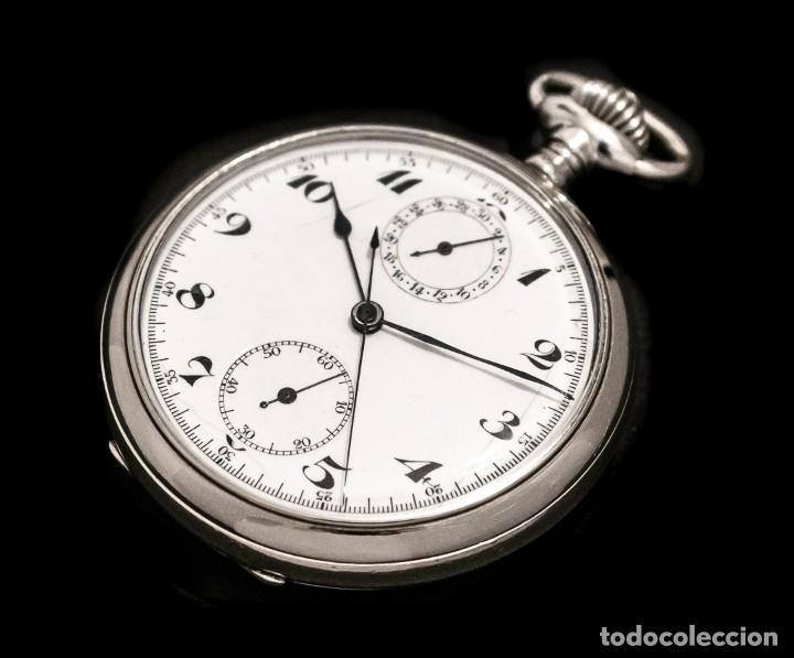 Relojes de bolsillo: Antiguo reloj de bolsillo y cronografo de origen suizo de los años 1900 y funcionando. - Foto 3 - 190137406