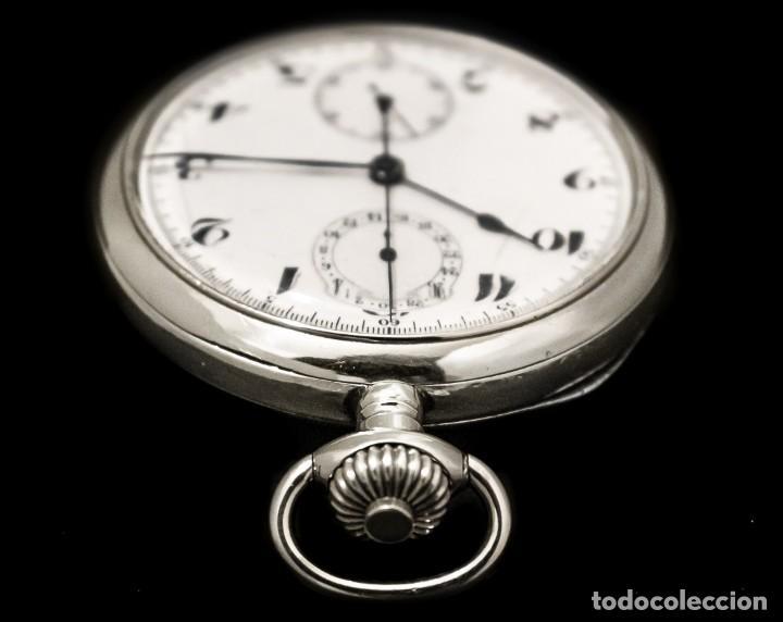 Relojes de bolsillo: Antiguo reloj de bolsillo y cronografo de origen suizo de los años 1900 y funcionando. - Foto 4 - 190137406