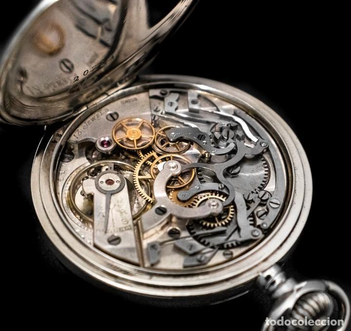 Relojes de bolsillo: Antiguo reloj de bolsillo y cronografo de origen suizo de los años 1900 y funcionando. - Foto 7 - 190137406