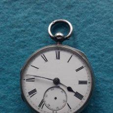 Relojes de bolsillo: RELOJ DE BOLSILLO MUY ANTIGUO, CON CAJA DE PLATA. Lote 190364885