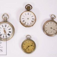 Relojes de bolsillo: LOTE DE 4 RELOJES DE BOLSILLO - COBEA, LONGTEMPS, CRONÓMETRO ESPAÑOL - PIEZAS O RESTAURACIÓN. Lote 190416825