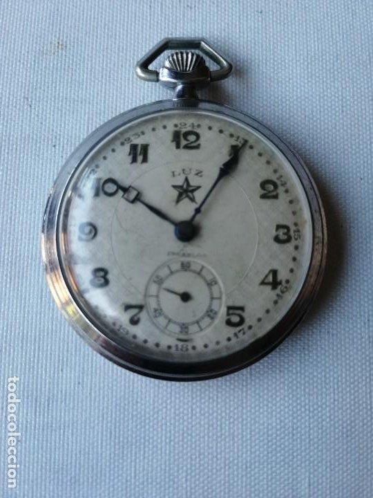 RELOJ DE BOLSILLO LUZ. (Relojes - Bolsillo Carga Manual)