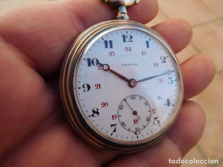 Relojes de bolsillo: Reloj de bolsillo en plata de la marca Zenith año 1919 - Foto 21 - 203861003