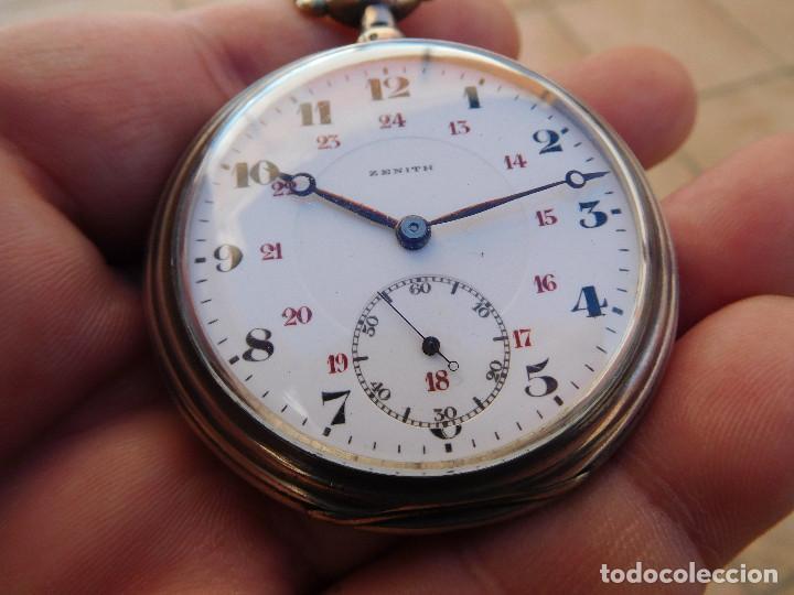 Relojes de bolsillo: Reloj de bolsillo en plata de la marca Zenith año 1919 - Foto 22 - 203861003