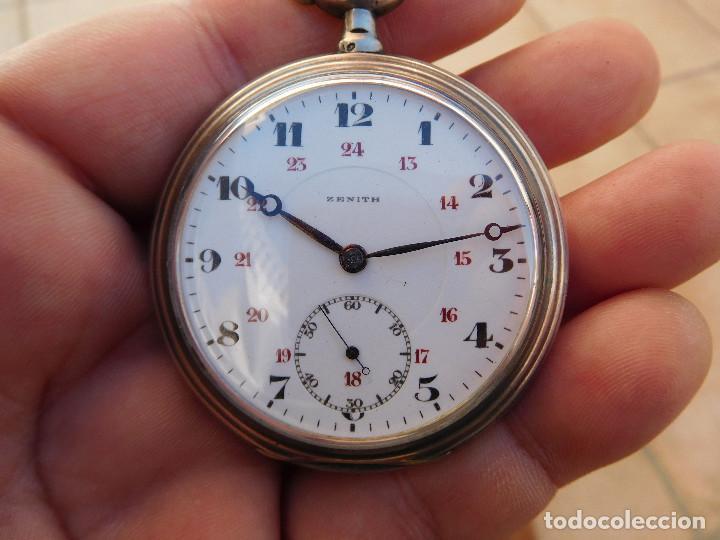 Relojes de bolsillo: Reloj de bolsillo en plata de la marca Zenith año 1919 - Foto 23 - 203861003