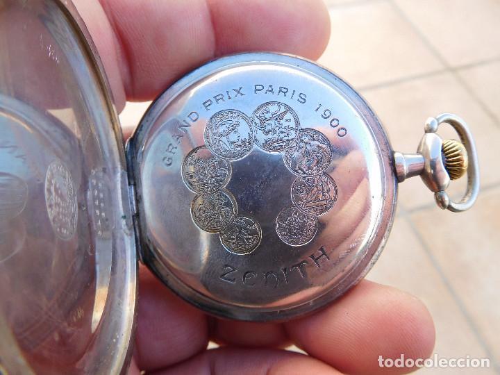 Relojes de bolsillo: Reloj de bolsillo en plata de la marca Zenith año 1919 - Foto 10 - 203861003