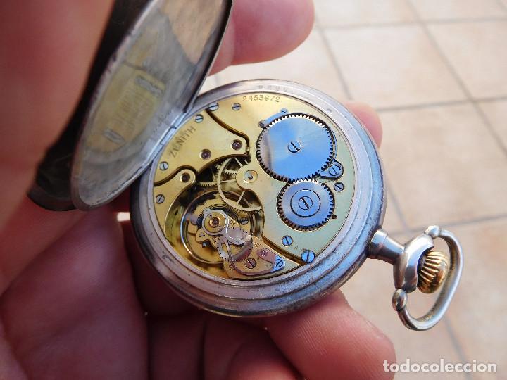 Relojes de bolsillo: Reloj de bolsillo en plata de la marca Zenith año 1919 - Foto 15 - 203861003