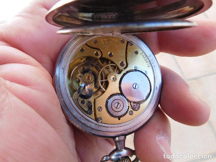 Relojes de bolsillo: Reloj de bolsillo en plata de la marca Zenith año 1919 - Foto 16 - 203861003