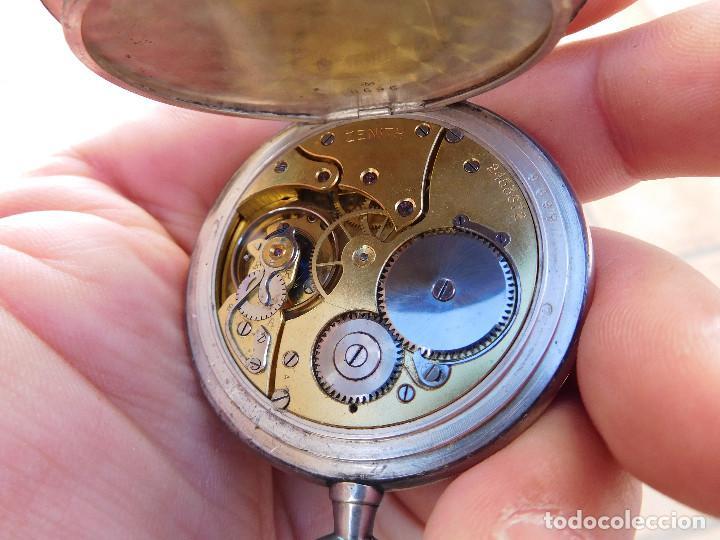 Relojes de bolsillo: Reloj de bolsillo en plata de la marca Zenith año 1919 - Foto 17 - 203861003