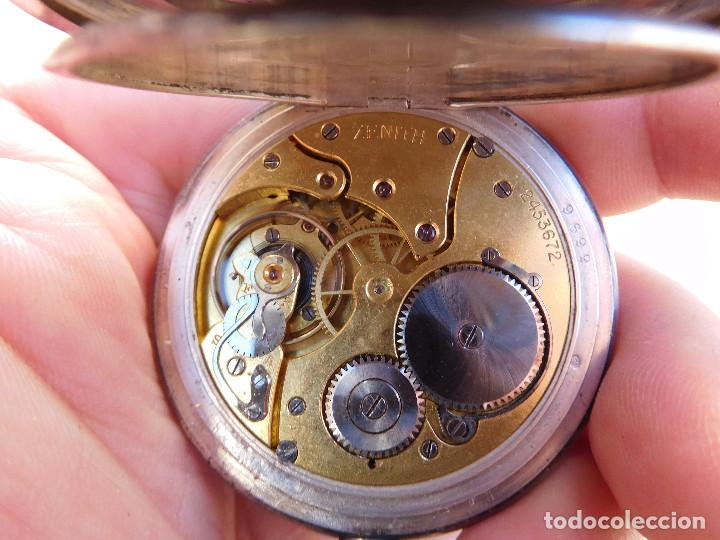 Relojes de bolsillo: Reloj de bolsillo en plata de la marca Zenith año 1919 - Foto 18 - 203861003