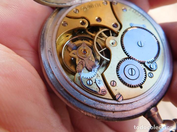 Relojes de bolsillo: Reloj de bolsillo en plata de la marca Zenith año 1919 - Foto 19 - 203861003