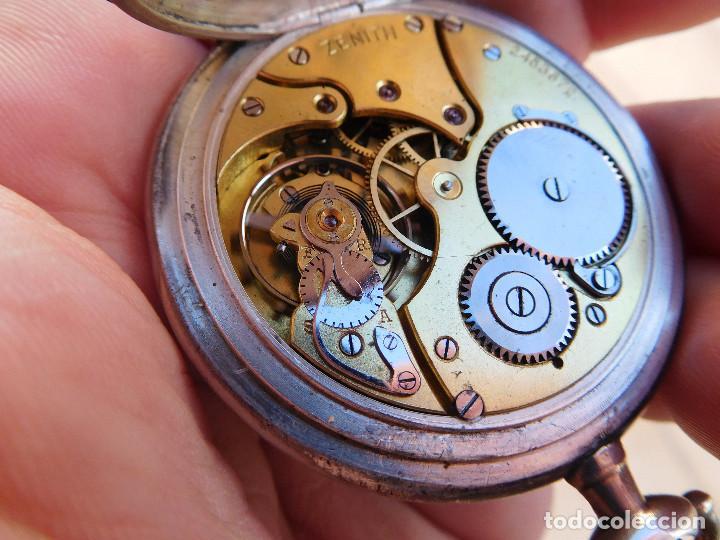 Relojes de bolsillo: Reloj de bolsillo en plata de la marca Zenith año 1919 - Foto 20 - 203861003