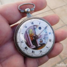 Relojes de bolsillo: RELOJ DE BOLSILLO EN PLATA BARJAC EN ROUEN (FRANCIA) AÑO 1800 APROX.. Lote 190602486