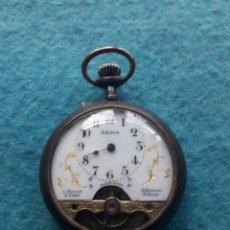 Relojes de bolsillo: RELOJ DE BOLSILLO MUY ANTIGUO 8 DÍAS CUERDA. SWISS MADE. Lote 190621143