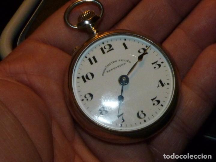 PRECIOSO RELOJ COURVOISIER FRERES CRONOMETRO SETIEN SANTANDER FUNCIONANDO AÑOS 20 COLECCION (Relojes - Bolsillo Carga Manual)