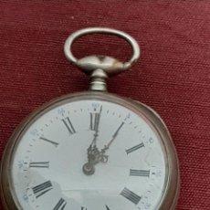 Relojes de bolsillo: RELOJ BOLSILLO PLATA. Lote 190638951