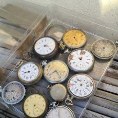 Relojes de bolsillo: E/1 LOTE RELOJES DE BOLSILLO PIEZAS/PROYECTOS. Lote 190756112