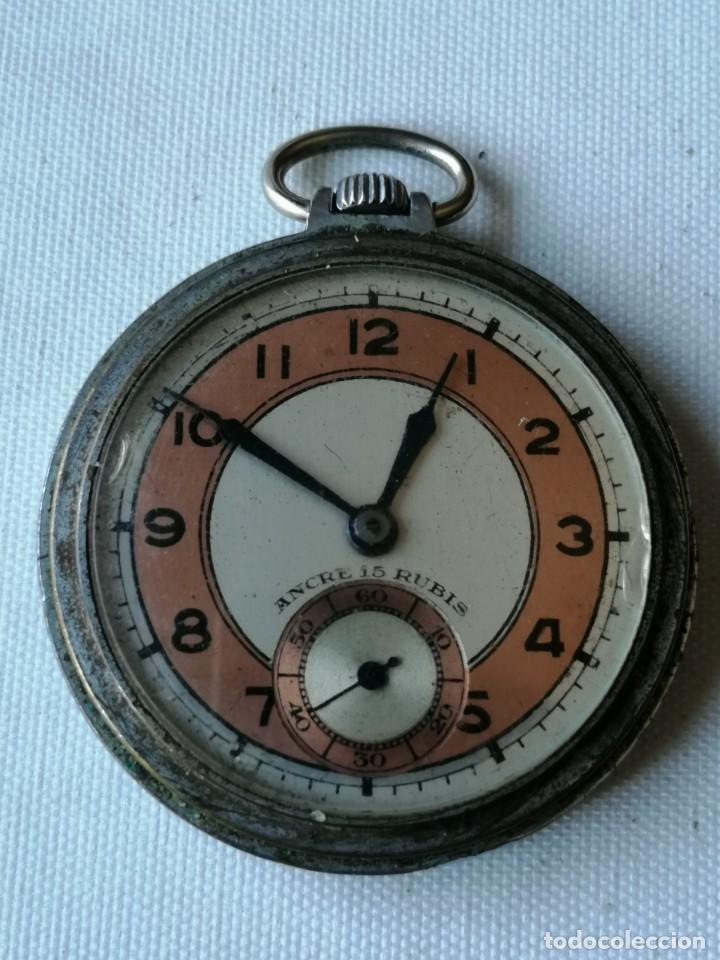 RELOJ DE BOLSILLO ANCRE 15 RUBIS. (Relojes - Bolsillo Carga Manual)