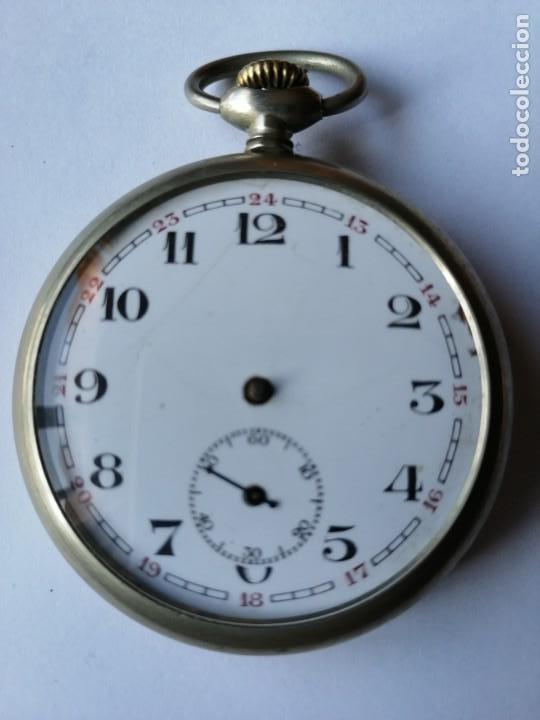 RELOJ DE BOLSILLO ARGENTAN. (Relojes - Bolsillo Carga Manual)
