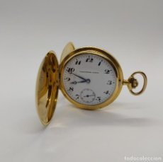 Relojes de bolsillo: RELOJ BOLSILLO ORO 18 KT 3 TAPAS CHRONÓMETRO SABINA. Lote 190820606
