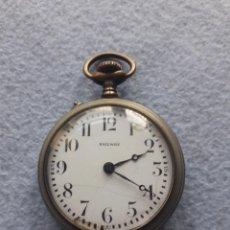 Relojes de bolsillo: RELOJ ANTIGUO DE BOLSILLO MARCA RAILWAY. FUNCIONANDO. Lote 190865143
