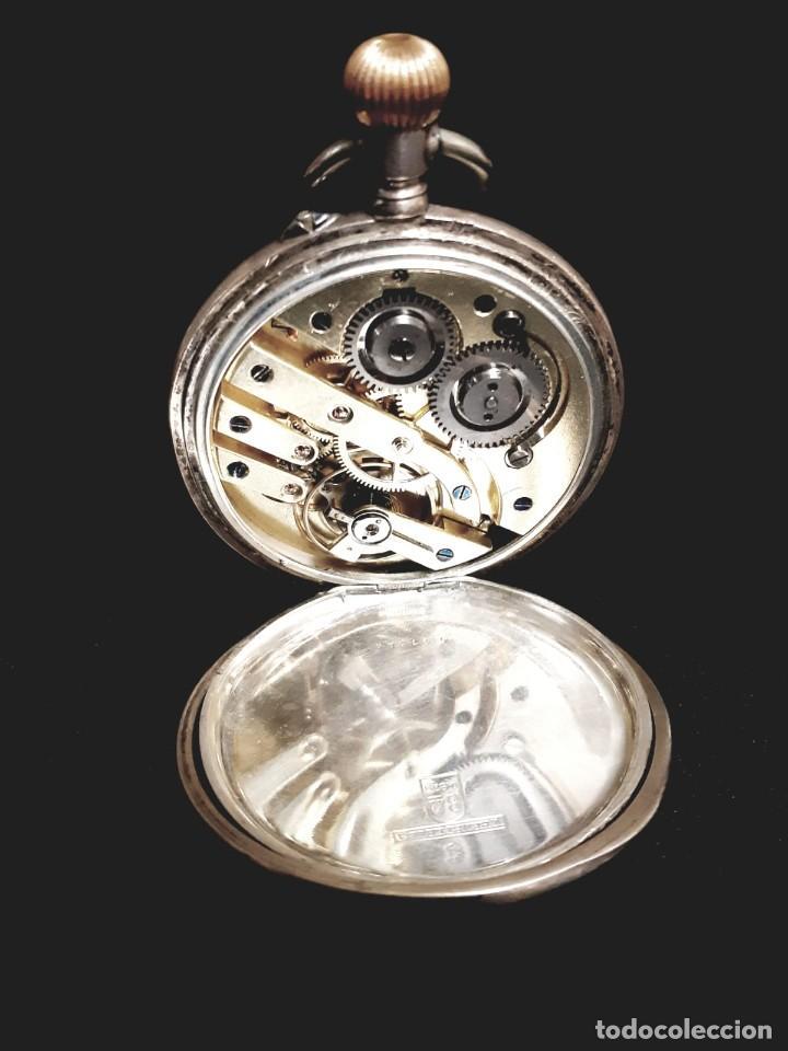 Relojes de bolsillo: RELOJ DE BOLSILLO TAPAS PLATA QUALITE BOUTTE / HENRI LEUBA - Foto 4 - 190875138