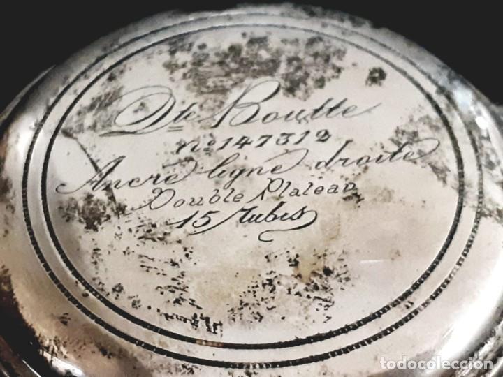Relojes de bolsillo: RELOJ DE BOLSILLO TAPAS PLATA QUALITE BOUTTE / HENRI LEUBA - Foto 5 - 190875138