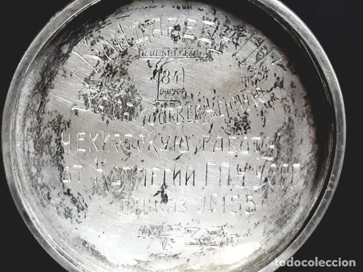 Relojes de bolsillo: RELOJ DE BOLSILLO TAPAS PLATA QUALITE BOUTTE / HENRI LEUBA - Foto 6 - 190875138