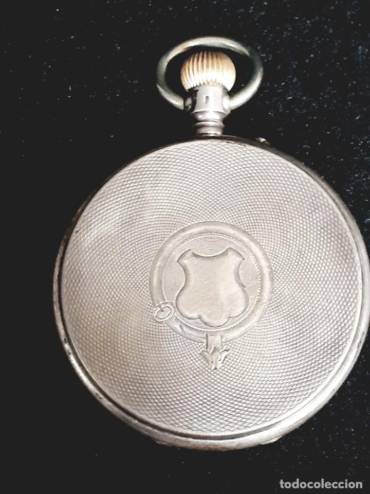 Relojes de bolsillo: RELOJ DE BOLSILLO TAPAS PLATA QUALITE BOUTTE / HENRI LEUBA - Foto 9 - 190875138