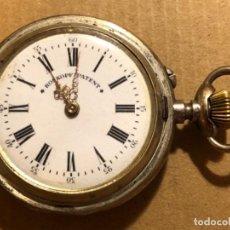 Relojes de bolsillo: RELOJ DE BOLSILLO ROSKOPF PATENT DE PLATA. 57MM. SABONETA. FUNCIONA.. Lote 191071963