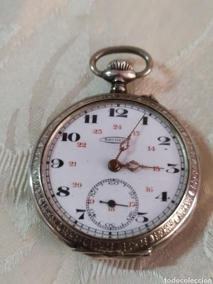 ANTIGUO RELOJ DE BOLSILLO DE PLATA CON SEGUNDERO CIRCA 1840 FUNCIONA (Relojes - Bolsillo Carga Manual)