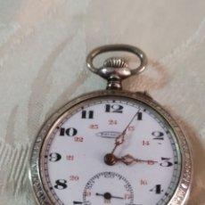 Relojes de bolsillo: ANTIGUO RELOJ DE BOLSILLO DE PLATA CON SEGUNDERO CIRCA 1840 FUNCIONA. Lote 191092871