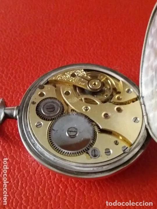 Relojes de bolsillo: RELOJ BOLSILLO ECCELSO DE PLATA, FUNCIONA PERFECTAMENTE. - Foto 4 - 191093666