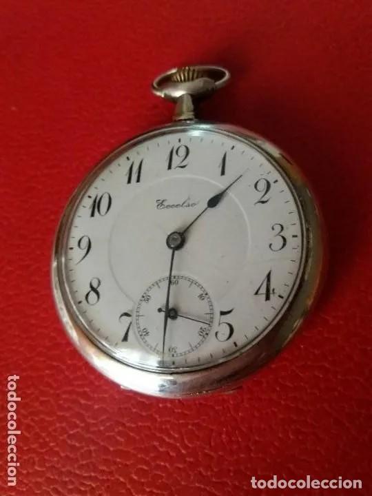 Relojes de bolsillo: RELOJ BOLSILLO ECCELSO DE PLATA, FUNCIONA PERFECTAMENTE. - Foto 9 - 191093666