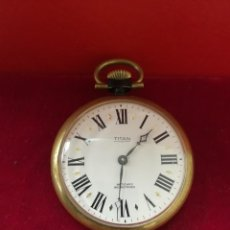 Relojes de bolsillo: BONITO Y RARO RELOJ DE BOLSILLO TITAN. Lote 191130217