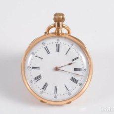 Relojes de bolsillo: RELOJ DE BOLSILLO, SUIZO 2 TAPAS, ORO DE 14K. EN FUNCIONAMIENTO.BUEN ESTADO.. Lote 191232808