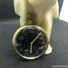 Relojes de bolsillo: RELOJ DE BOLSILLO MILITAR ESFERA NEGRA RARO . Lote 191270448