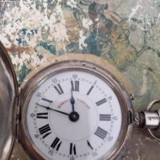Relojes de bolsillo: RELOJ DE BOLSILLO ROSKOPF PATENT TIPO CAZADOR PLATA 0,800 52 MM.. Lote 191405052